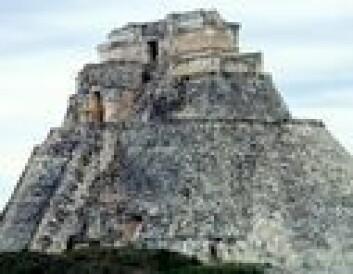 """Aztekisk pyramide. Her fant det sted grufulle offerseremonier"""
