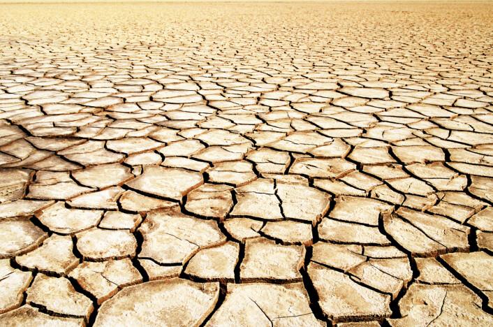 Klimaforskere frykter at den menneskeskapte globale oppvarmingen får klimasystemet til å tippe, slik at kloden fremover blir hjemsted for ekstremt vær med utbredt tørke i noen områder og voldsomme oversvømmelser i andre. (Foto: Colourbox)