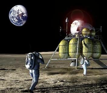 """""""Artemis, USAs nye månelandingsfartøy. Illustrasjon: NASA/John Frassanito and Associates"""""""
