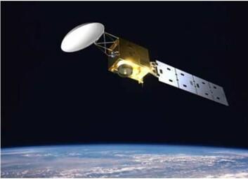ESAs EarthCare skal skytes opp i 2013 for å måle sammehengen mellom aerosoler, skyer, solinnstråling og klima. (Illustrasjon: ESA)