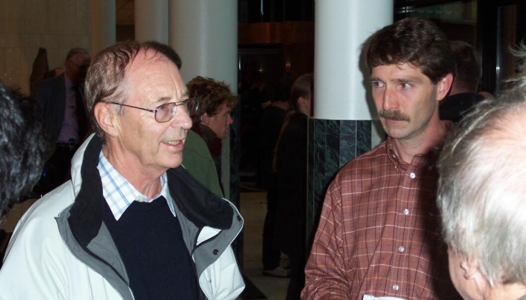 """""""Egil Lillestøl holdt et innsiktsfullt foredrag om CERN og norske bidrag til CERN. (Foto: Harald Aastorp)"""""""
