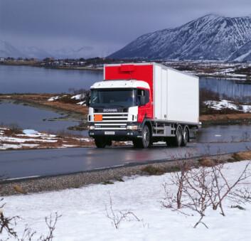 Norske lastebilsjåfører er lite truet av snøskred. (Foto: Shutterstock)
