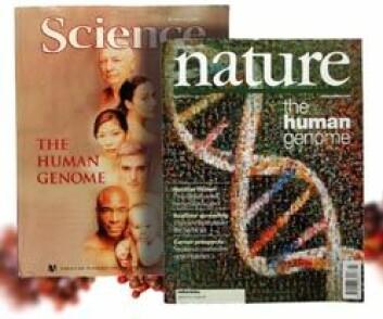 """""""Februar 2001 kom fagbladene Nature og Science ut samtidig med to versjoner av et oversiktskart over det menneskelige genom (Foto: Jon Solberg)"""""""