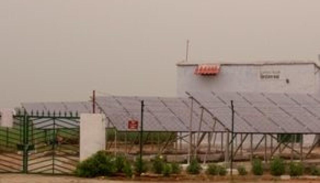 Solceller splittet landsby
