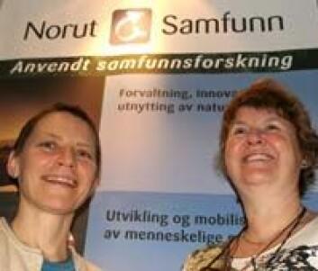 """""""Ann Therese Lotherington (t.v.) og May-Britt Ellingsen er drivkreftene bak den nye nordområdesatsingen til Norut Samfunnsforskning."""""""