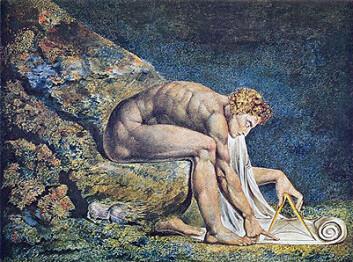 Isaac Newton malt av romantikeren William Blake.
