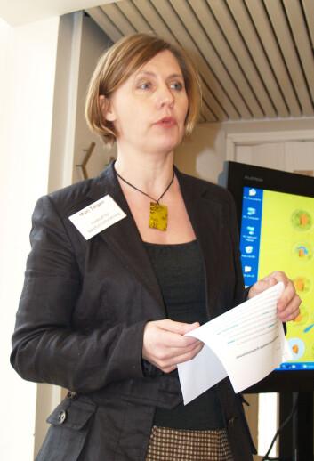 Mari Teigen, forskningsleder ved Institutt for samfunnsforskning her på Kjønnsforskningsprogrammets avslutningsmesse i 2008.