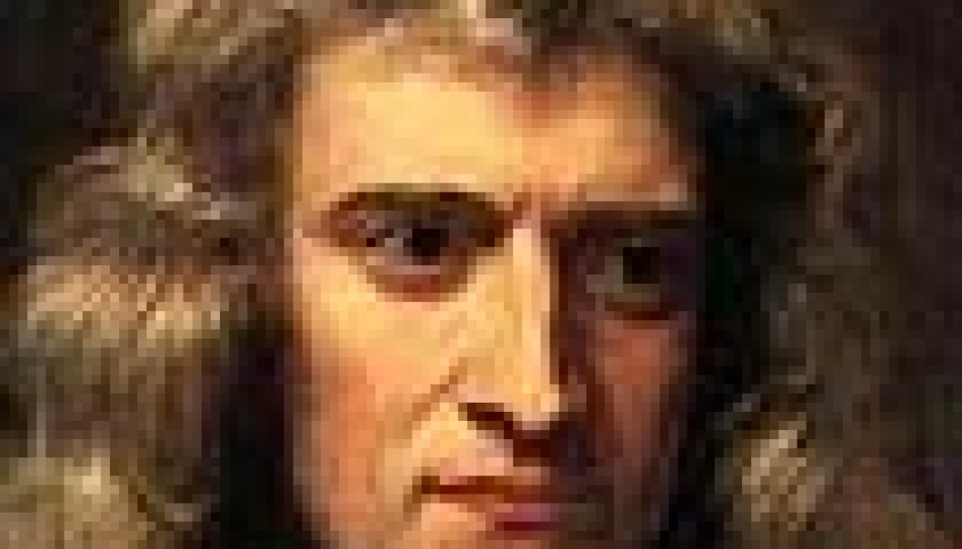 Isaac Newton slik Godfrey Kneller så ham.