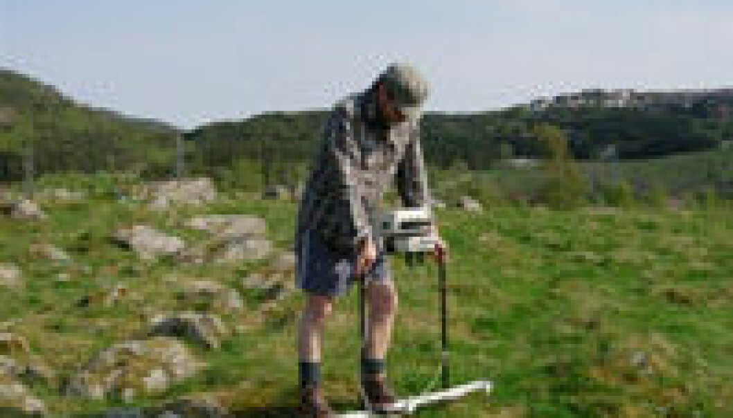 Georadaren gir 3D-bilder av strukturer under bakken.