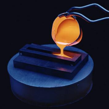 Eksperiment med innkapsling av radioaktivt avfall i glass (Foto: Pacific Northwest National Laboratory, USA)