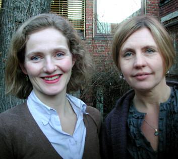 Vibeke Heidenreich og Mari Teigen ved Institutt for samfunnsforskning. (Foto: Siri Lindstad)