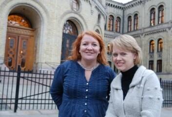 Marianne Aasen frå Ap (t.h.) leiar KUF-komiteen, og skal saman med blant andre Dagrun Eriksen (KrF) forma utdannings-Noreg dei neste åra.