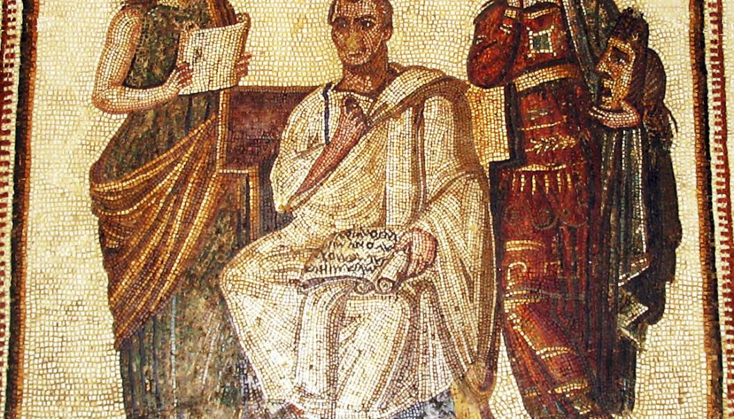 Vergil var en yndet figur i de romerske mosaikkene. Foto: wikimedia.org