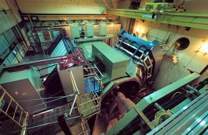 """Det var i denne maskinen, kalt PHENIX, at gullionene krasjet i 2005. (Foto: Brookhaven National Laboratory)"""
