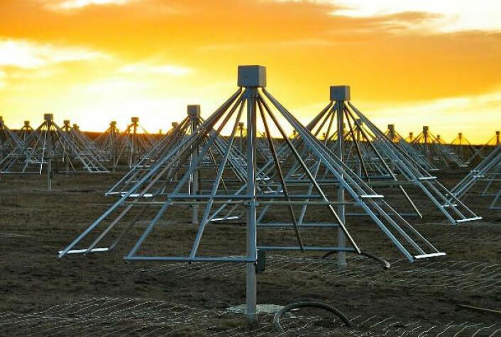 LWA-1-stasjonen som ligger sentralt i New Mexico starter overvåkningsoppdraget sitt til sommeren. (Foto: Paul Ray / LWA Project)