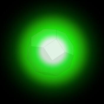 Motivet illustrerer en partikkel som kalles nanodiamant. I beste fall går den en stor framtid i møte som medisinkurér i menneskekroppen. Om det faktisk vil skje, er ennå for tidlig å si sikkert. (Foto: © Science/AAAS)