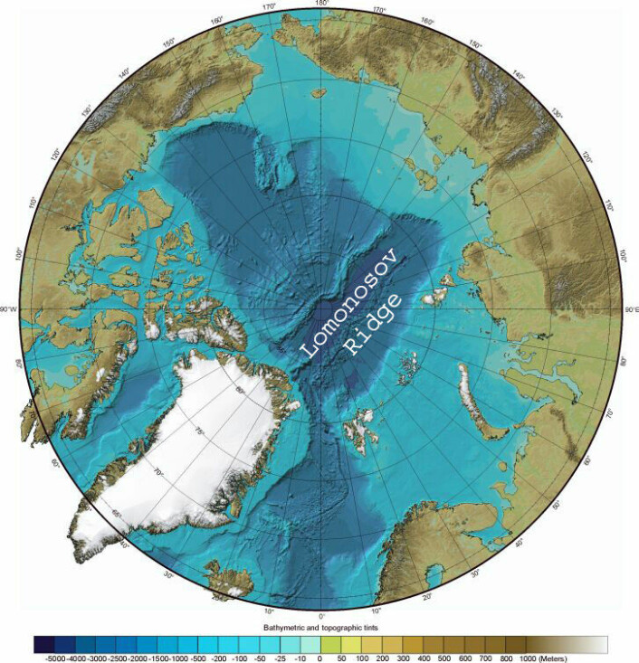 """""""Arktis og Lomonosovryggen."""""""