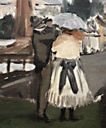 Detalj fra maleri av Eduard Manet.