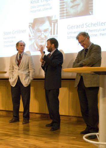 Peter Agre, Gerard Schellenberg og Sten Grillner (Foto: Hanne Jakobsen)
