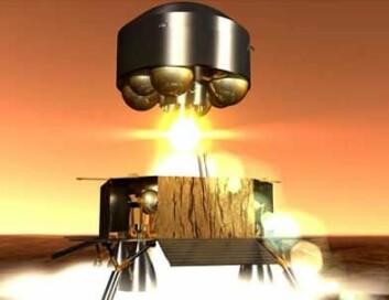 Et fartøy som skal forlate Mars med prøver og reise tilbake til jorda igjen, kan se slik ut. (Illustrasjon: ESA)