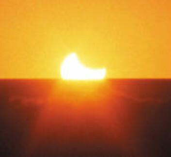 """""""Slik så det ut da det var solformørkelse i Australia i 2002 (Foto: Gitte Rydberg)"""""""