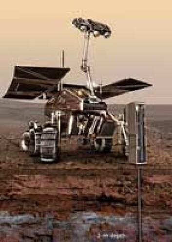 Den ene av roverne har med seg en bakkeradar og en drill som skal ta prøver fra to meter under baken. (Illustrasjon: ESA)