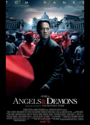 Filmplakat til Angels and demons - eller Engler og demoner på norsk. (Foto: Sony Pictures)