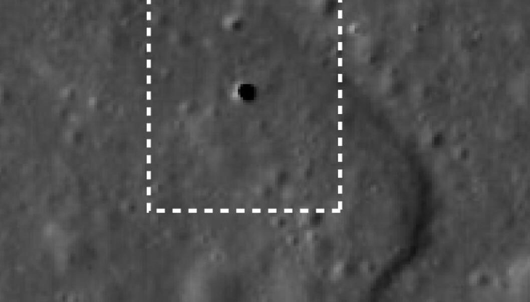 Fant hull på månen