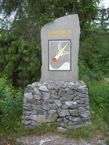 Frå Gardnos meteorittpark.