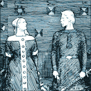 Illustrasjon til Snorre av Erik Werenskiold