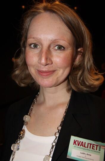 Anna Ledin. (Foto: Kristin Engh Førde)