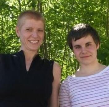 Åse Røthing og Stine Helena Bang Svendsen. (Foto: Lorenz Khazaleh)