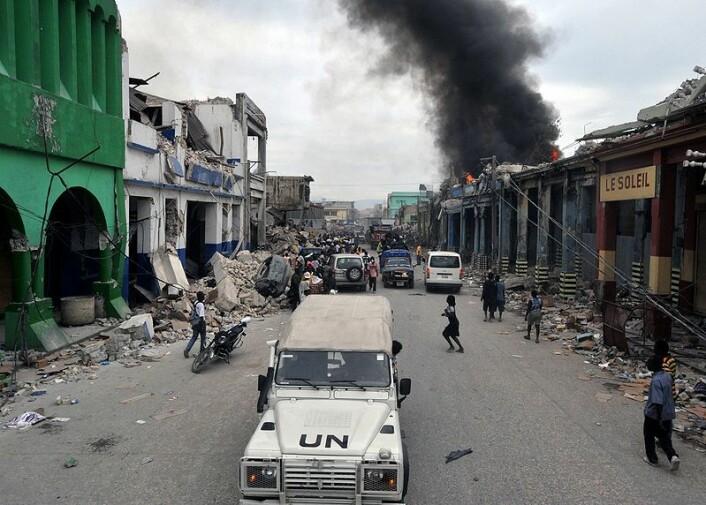 Gatene i Port-au-Prince, nabolaget Bel-Air, etter jordskjelvet 12. januar. (Foto: Marcello Casal Jr/ABr, se lisens her)