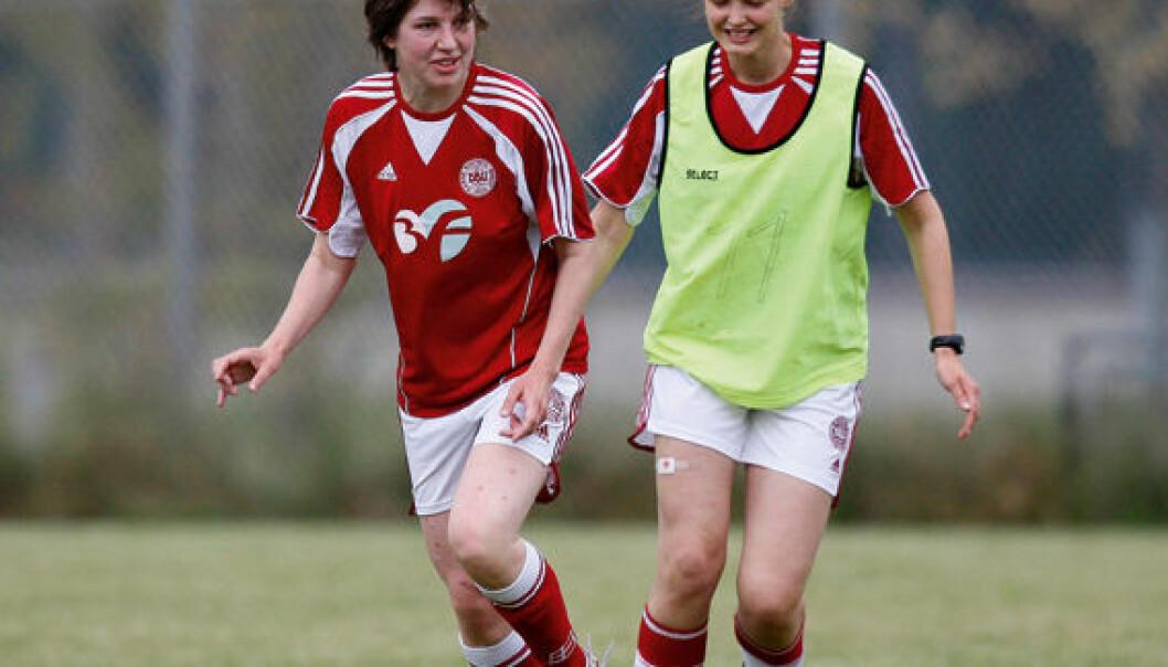 Kvinnefotball. (Foto: Anders Kjærbye)