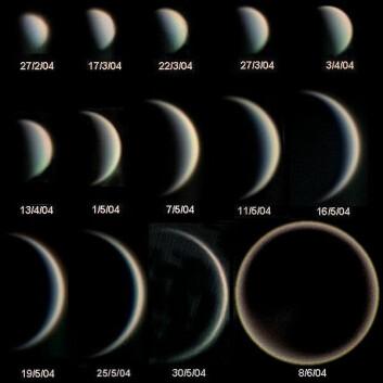 Fasene til planeten Venus (Foto: Statis Kalyvas - VT-2004 programme)