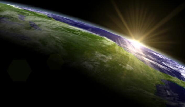 Vanndamp i atmosfæren spiller en stor rolle for drivhuseffekten. I en ny studie beregnes sammenhengen mellom vanndamp og temperaturstigning på jorda. (Illustrasjon: Istockphoto)