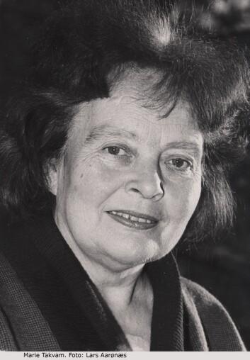 Marie Takvam fikk mer omtale av sitt utseende enn av sine dikt. (Foto: Lars Aarønæs, Gyldendal Norsk Forlag).