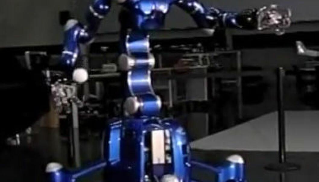 Denne roboten kan ta imot en ball