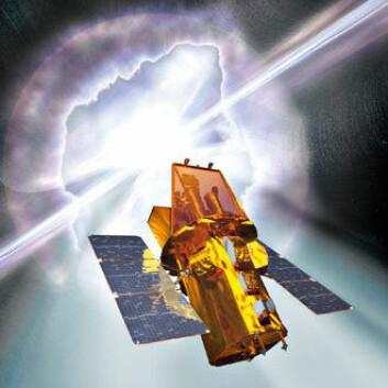 SVEVENDE: NASA bruker teknologien for måling av gammastråling i satellitten SWIFT. Den ble skutt opp i 2004 og er fortsatt i drift. Illustrasjon: NASA