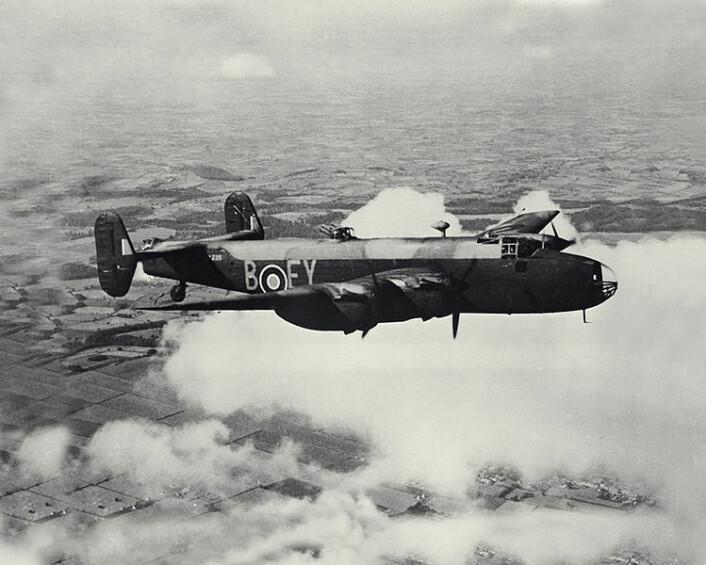 Halifax bombefly, likt de som ble brukt under Operation Freshman. (Foto: Wikimedia Commons)