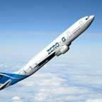 ESAs Airbus-fly på vei opp før det kutter begge motorene. Foto: ESA.