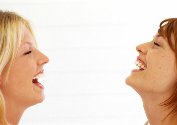 """""""Å le føles riktig bra, men har det også helsemessige fordeler utover det å trene lattermusklene og smilebåndet? (Illustrasjonsfoto: www.colourbox.no)"""""""