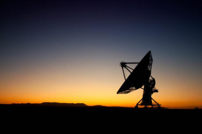 Radioteleskopene i Very Large Array fanger opp radiostråling fra rommet, fra Socorro i New Mexico. (Foto: iStockphoto)
