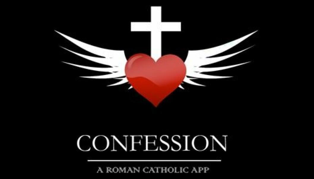 """Skjermdump fra iPhone-appen """"Confession: A Roman Catholic App"""" (Foto: Skjermdump fra journalistens telefon)"""