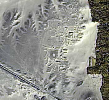 Satellittbilder i infrarødt viser strukturer under jordoverflaten. (Foto: UAB)