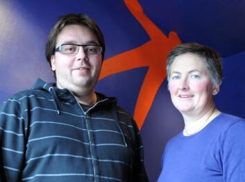 Robert Bye og Margrete Haugum, Trøndelag Forskning og Utvikling. (Foto: Morten Stene)