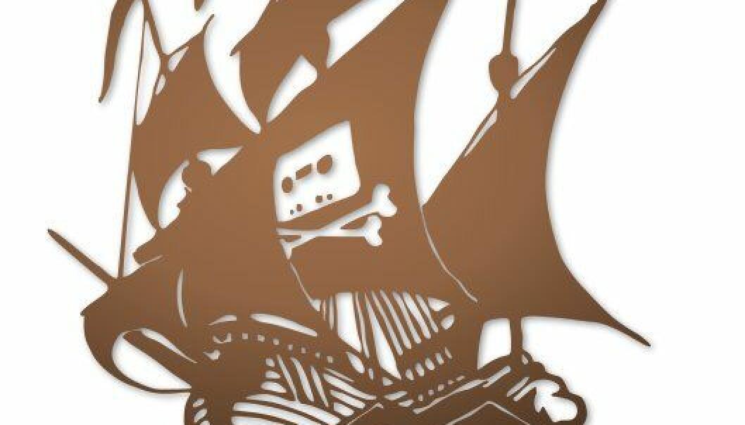 Fildelere ser seg selv som en slags frihetskjempere, hvor målet helliger middelet. De bruker blant annet fildelingstjenesten The Pirate Bay, som er en såkalt bittorenttracker.  (Illustrasjon: Wikimedia Commons, se lisens her)