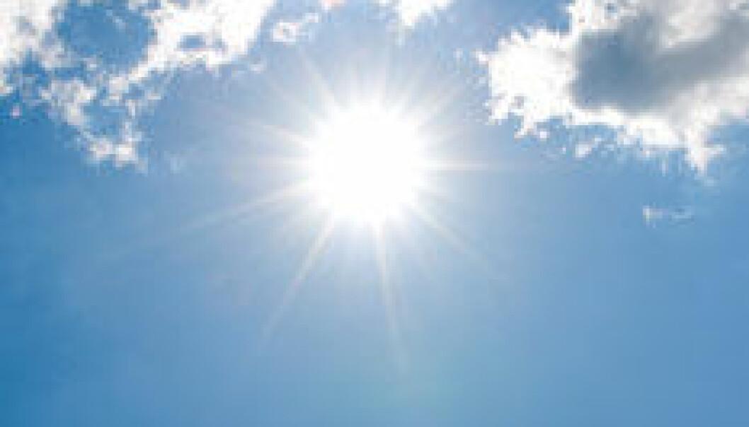 Sol og skyer kvadrat. (Foto: iStockphoto)