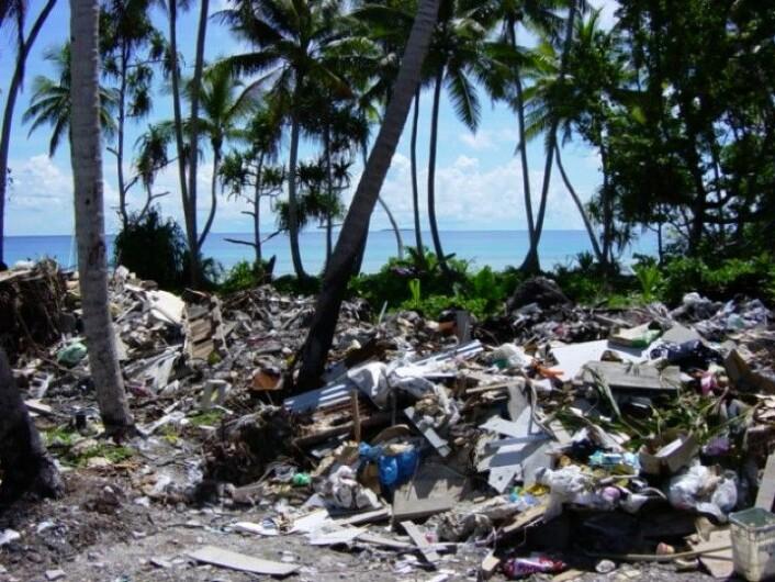 """""""Avfallshåndtering koster penger, og mange av Stillehavsøyene må ty til turisme. (Foto: AUT)"""""""