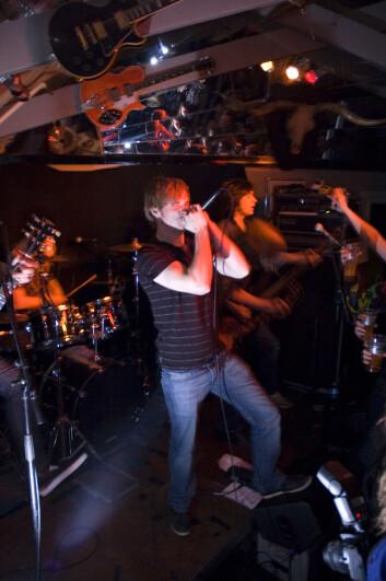 Destined har blitt kalt The New Wave of Tromsø Metal. Fra konserten til inntekt for årets TV-aksjon. (Foto: Maja Sojtaric)